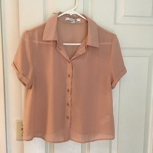 Forever 21 short sleeve button down blouse